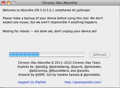 a5 jailbreak progress Violato lA5 di iPad 2 e iPhone 4S grazie ad un gruppo di hacker