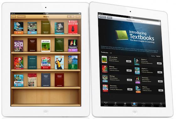 ibooks textbooks two up white ipad 350.000 download in soli tre giorni per i nuovi Textbooks di Apple