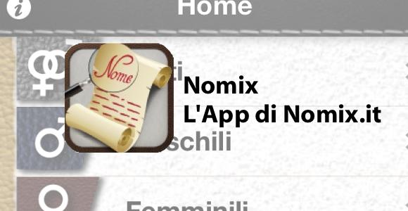 nomix home italiamac Nomix, il significato dei nomi sul vostro iPhone.