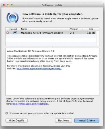 Schermata 02 2455966 alle 08.56.05 Apple ha rilasciato un aggiornamento del Firmware EFI per MacBook Pro, MacBook Air e iMac