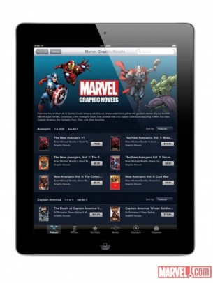 %name Disponibili su iBookstore i fumetti Marvel