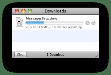 messagedownload iMessage anche su Mac OS X, ecco la Beta di Message