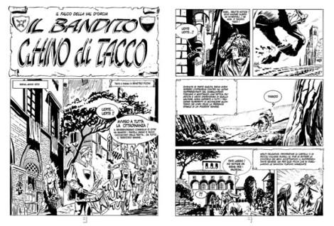 pagine1 Ghino di Tacco, un fumetto elettronico