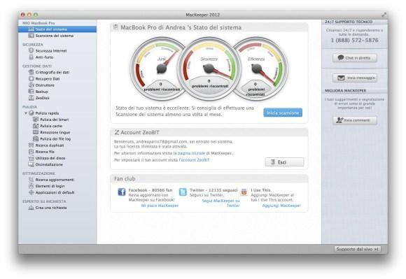 Mackeeper stato sistema1 580x399 Mackeeper, tutto quello che serve in ununica App.