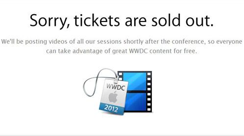 WWDC Biglietti per il WWDC 2012 esauriti in meno di due ore