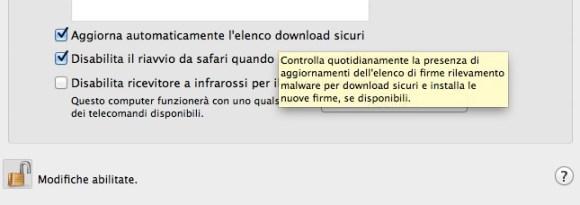 sicurezza privacy 580x205 Consigli Utili per mantenere efficiente il Vostro Mac.