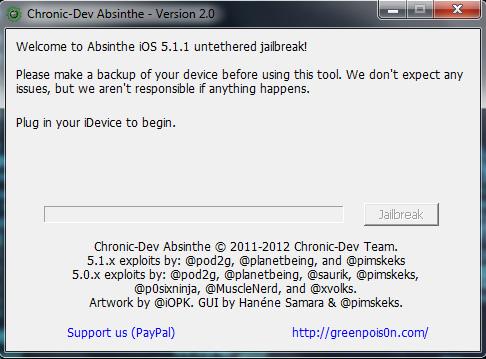 absinthe 21 Absinthe 2.0 è arrivato: via al Jailbreak di iOS 5.1.1