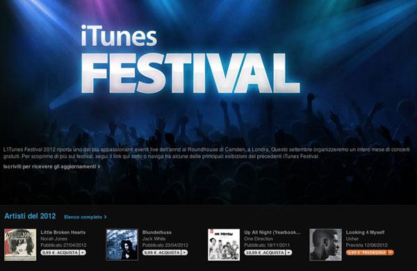 itunes festival 600 Ecco le date e alcuni artisti che saranno presenti alliTunes Festival 2012