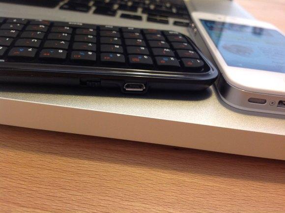 minibluetoothkeyboard side 580x433 Mini Bluetooth Keyboard per iPhone e iPad
