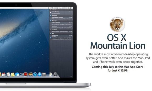 osx mountain lion 580x351 OS X Mountain Lion, le principali funzioni del nuovo sistema operativo per Mac