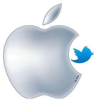 Eros Twitter Apple1 Apple e Twitter: la mela mangerà luccellino ?