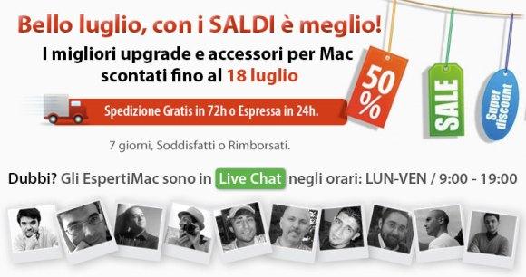 saldi luglio2012 580x306 Saldi Estivi su BuyDifferent: upgrade, accessori e Mac a prezzi doccasione *ad