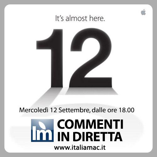 Apple 12 September 2012 evento settembre Commenta in diretta con noi lEvento Apple del 12 Settembre 2012.