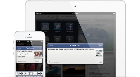 facebook status 580x318 Meno di una settimana ad iOS 6: Ecco come sarà!