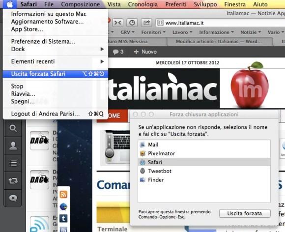 uscita forzata 580x472 Il nostro Mac va lento? Controlliamolo e troviamo la soluzione
