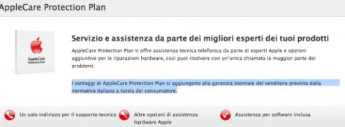Schermata 2012 11 11 alle 15.26.11 530x190 Apple ufficializza la garanzia di 2 anni dei suoi prodotti, come vuole la legge