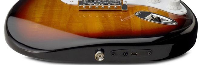 chitarra USB Squier by Fender Stratocaster1 Ecco la nuova versione della chitarra Squier by Stratocaster compatibile con iOS e Mac