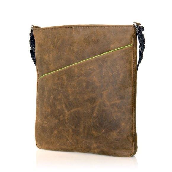 indy brown green lg 580x580 Indy, la borsa per iPad di Waterfield