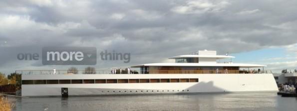 jacht6 595x223 Svelato Venus, il megayacht elegante e minimalista ideato da Steve Jobs