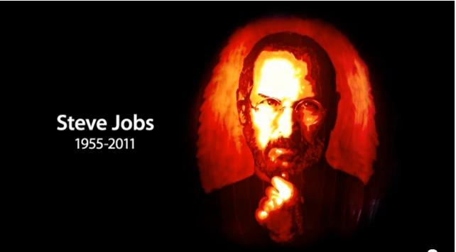 pumpkin Una zucca in onore di Steve Jobs realizzata da un Apple fan
