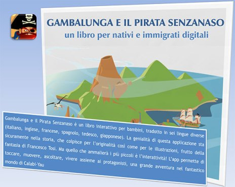 gambalunga Gambalunga e il Pirata Senzanaso, libro interattivo per iOS