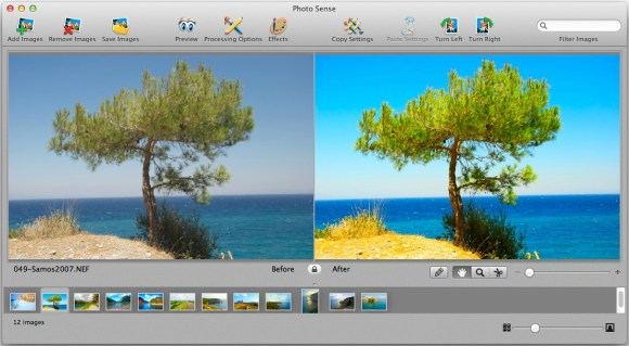 photosense2 580x319 Photo Sense, migliora e applica effetti alle tue foto automaticamente