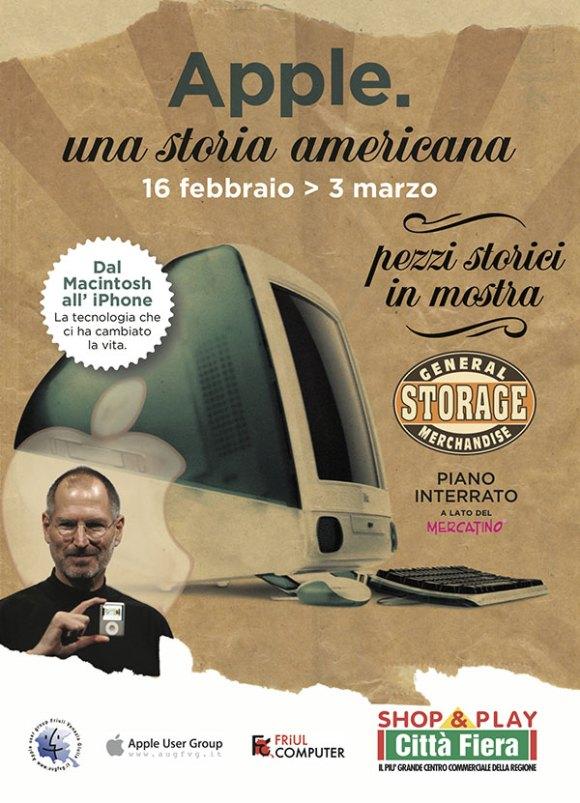 locandina mostra apple 580x803 Apple: una storia americana. Pezzi storici in mostra a Udine