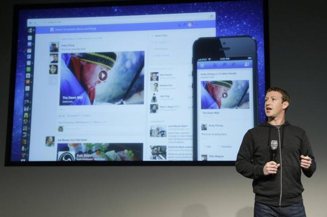 Mark Zuckerberg presenta la nuova grafica Notizie (e pubblicità) più chiare e in evidenza con la nuova grafica di Facebook