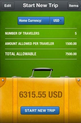 Simply Declare Travel 01 Simply Declare Travel tiene traccia delle spese nei viaggi allestero