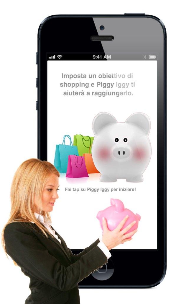 iPhone5 CC it 580x1029 Piggy Iggy, il salvadanaio per iPhone diventa gratuito