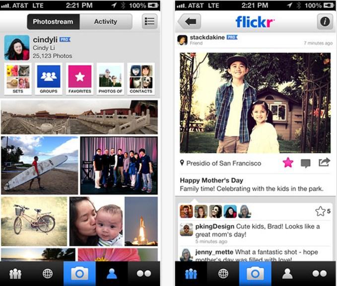 Flickr per iOS
