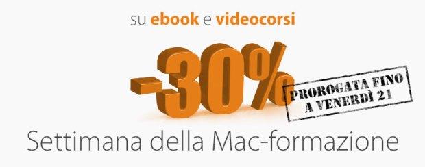 30 mac formazione 620x244 Settimana della Mac Formazione su BuyDifferent:  30% su videocorsi ed e book