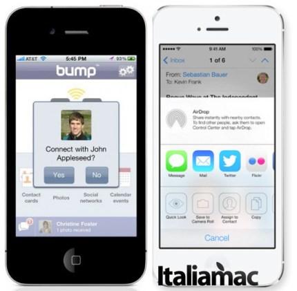 Bump vs Airdrop su iOS 7 Quali sono i tweak e le applicazioni che andranno in pensione con iOS 7?