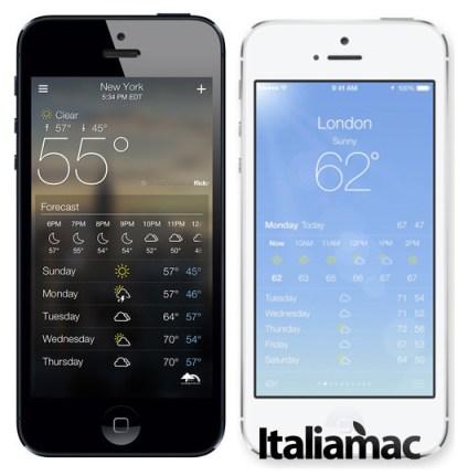 Yahoo Weather vs Meteo di iOS 7 Quali sono i tweak e le applicazioni che andranno in pensione con iOS 7?