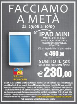 billa ipad Da Billa iPad mini a metà prezzo grazie al rimborso in buoni spesa