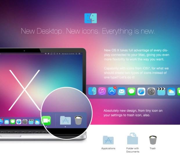 osx mavericks Zakharoff 02 620x534 Come iOS 7 potrebbe ispirare il design del nuovo OS X Mavericks. Due gallerie di immagini per voi