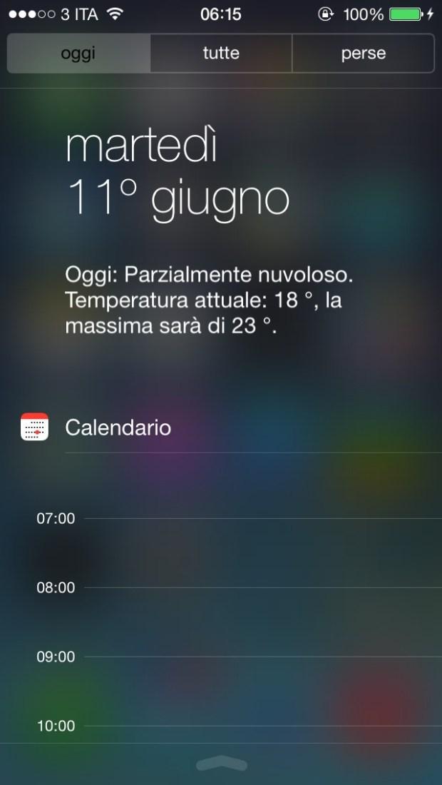 Centro notifiche di iOS 7 620x1100 Benvenuto iOS7: Ecco tutte le novità e i link per il download diretto!