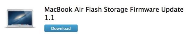 Flash Storage Firmware Update 1.1 620x133 Apple rilascia laggiornamento firmware per MacBook Air Flash Storage Firmware Update 1.1