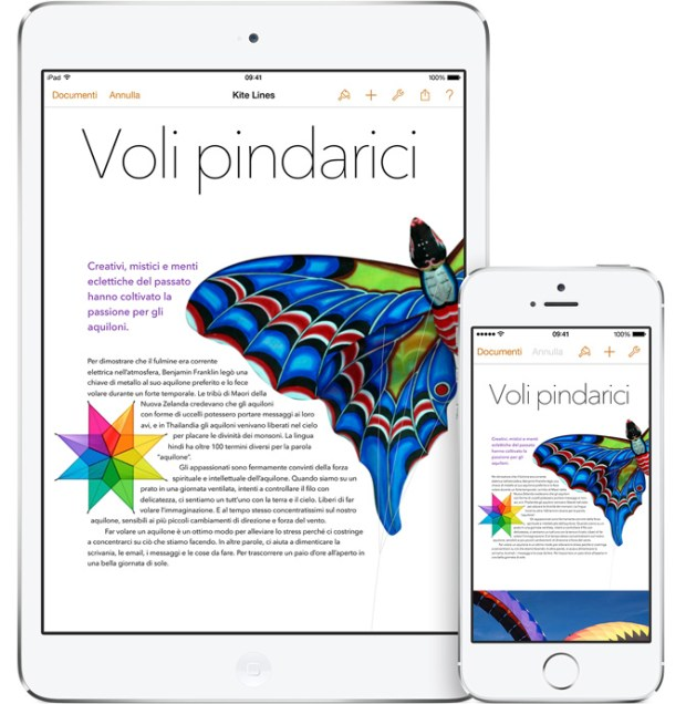 pages screen 620x636 Maveriks, iWork e iLife: Disponibili gratuitamente