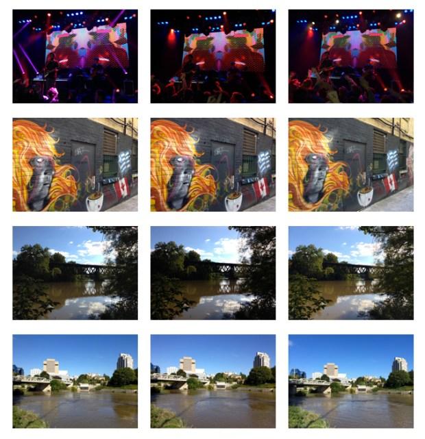 Foto scattate dai tre diversi iPhone