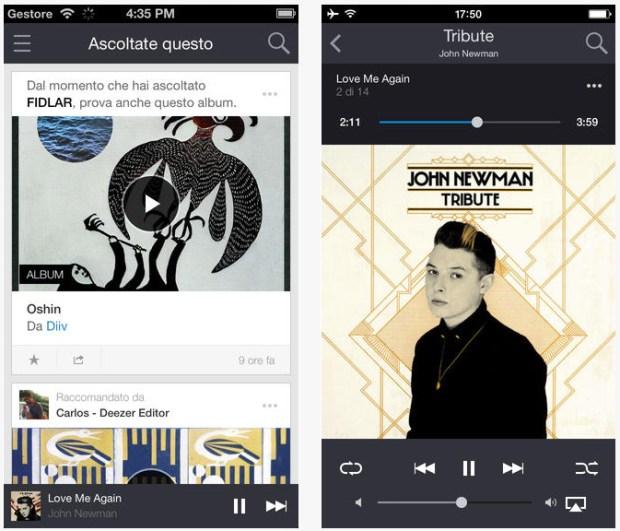 Deezer iOS 620x531 Deezer presenta la sua nuova app per iOS e offre labbonamento Premium+ a metà prezzo