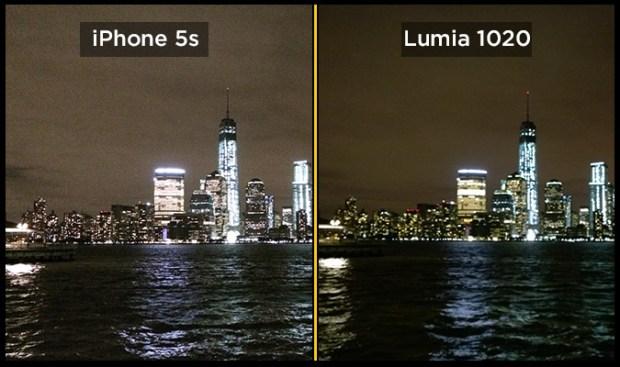 Skyline di notte 620x367 Sfida tra fotocamere: gli 8 MP di iPhone 5s contro i 41 di Lumia 1020. Risultato scontato?