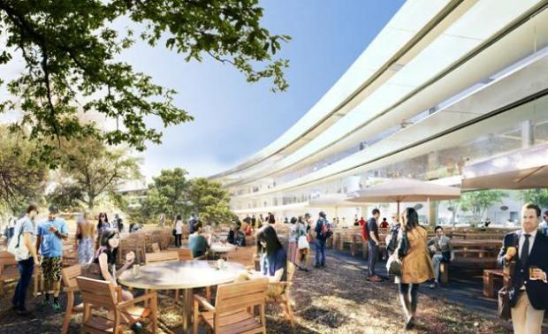 nuovo campus apple esterno 620x378 Apple pronta al trasloco nel suo nuovo campus futuristico