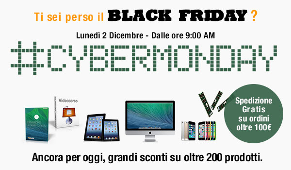 cybermonday2 NL Cyber Monday su BuyDifferent, prezzi superscontati su oltre 200 prodotti per chi si è perso il Black Friday