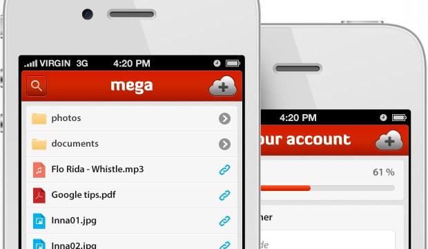 ref mega retina 620x360 MEGA, il servizio di Cloud Storage di Kim Dotcom, approda con lApp Ufficiale su App Store.