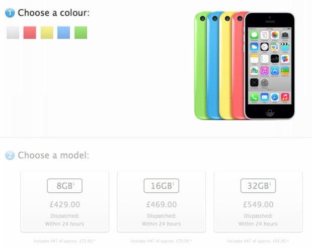 5cUK 620x502 Perché Apple ha deciso di lanciare una versione da 8GB di iPhone  5C?