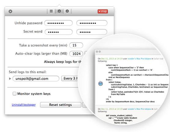 Keylogger002 Elite Keylogger per Mac: tutto quello che succede sul tuo Mac a portata di click