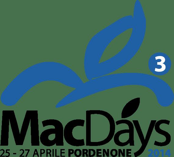 Logo MacDays 2014 570 Iniziano oggi i MacDays. Fino al 27 aprile alla fiera di Pordenone. Vi aspettiamo!