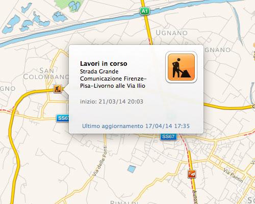 Mappe di Mavericks 2 Mini tutorial: Mappe di Mavericks, scopriamo gli avvisi utili