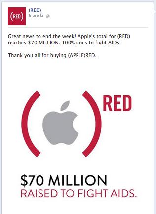 Schermata 2014 04 05 alle 00.10.37 70 milioni di Dollari da Apple per il progetto Product (RED)